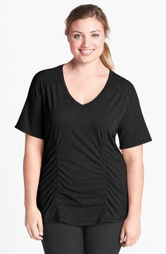 Zella Jacket, Tee & Leggings (Plus Size) Chic Dress, Dress Up, Dress Shirt, Men Dress, Gym Tops, Short Skirts, Plus Size Women, Stretch Fabric, Tees