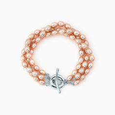 Elsa Peretti® Sevillana™ bracelet in sterling silver with pearls, medium.