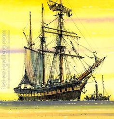 Unidentified sailing boat by John S. Smith