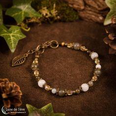 """Bracelet fait-main amazonite et labradorite - """"Semeur d'Étoiles"""""""