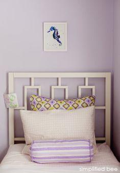 purple and green girl's bedroom design // Simplified Bee