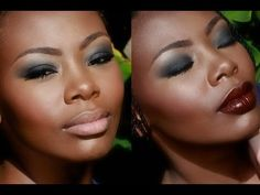 ▶ New Year's Eve Smoky Eyes, Two Ways | Bellesa Africa - YouTube Deep skin tones can really pull off color in a way other complexions can't. Stunning.