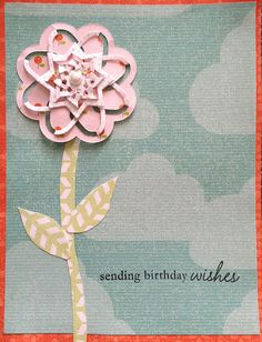 Made using Spellbinders Cut Fold Tuck dies by Shopping Diva (Scraptime episode 761)