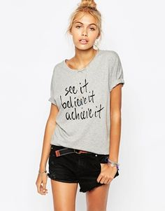 Element T-Shirt With See It Believe It Slogan Print