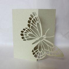 Butterfly fretwork card $6