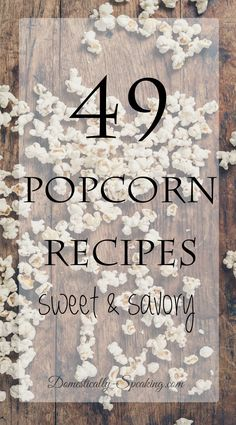 49 Popcorn Recipes from sweet to savory (popcorn snacks recipes) Popcorn Mix, Popcorn Snacks, Popcorn Balls, Gourmet Popcorn, Popcorn Recipes, Candy Recipes, Cooking Popcorn, Oreo Popcorn, Spicy Popcorn