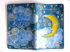 Mit leichter Hand gemalt... http://de.dawanda.com/product/94486315-notizbuch-dreamnotebook-nr26---kirsten-kohrt-art NOTIZBUCH-DREAMNOTEBOOK NR.26  - KIRSTEN KOHRT ART von KIRSTEN KOHRT ART  - International shipping available auf DaWanda.com