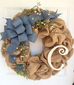 Hey, I found this really awesome Etsy listing at https://www.etsy.com/listing/227923565/burlap-and-denim-spring-and-summer
