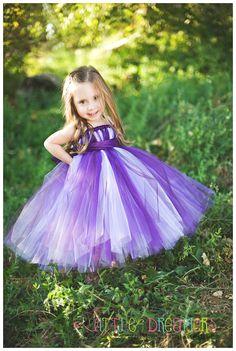 Plum Purple Lavender Tutu Dress with Sash - 5 thru 7. $80.00, via Etsy.