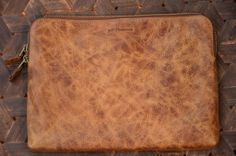 Jeff Thomsen Collection - Tablet and Document Cases, hand crafted, genuine leather - DOC002 Vintage The name says it all