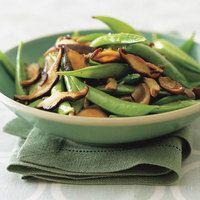 Sugar Snap Peas with Frizzled Mushrooms | rachaelraymag.com