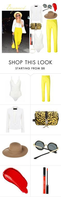 """""""Bee"""" by genehigh on Polyvore featuring mode, P.A.R.O.S.H., Barbara Bui, Yves Saint Laurent, Armani Jeans, Burberry, Sephora Collection et Missoma"""