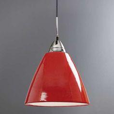 Read Large Red Ceiling Pendant | Dunelm