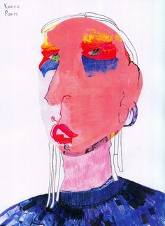 Pin by Becky Mars on Fashion Illustration Tag Art, Modern Art, Contemporary Art, Arte Horror, Arte Pop, Art Graphique, Psychedelic Art, Art Plastique, Portrait Art