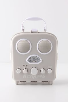 This radio would be lovely to have out on the patio or in the boudoir. If I have my iPod locked up inside, I can't hit the snooze when it goes off in the morning! #Anthropologie #PinToWin