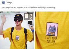 I love his shirt