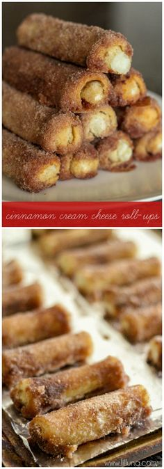 Delicious Cinnamon Cream Cheese Roll-Ups - the easiest morning treat ever! : Delicious Cinnamon Cream Cheese Roll-Ups - the easiest morning treat ever! Just Desserts, Delicious Desserts, Dessert Recipes, Yummy Food, Baking Desserts, Sweet Treats, Yummy Treats, Crescent Roll Recipes, Cheese Rolling