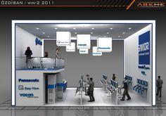 Ozdisan Modular Exhibition Stand Design @ www.fairistanbulturkey.com | Arkhe Mimarlık  http://www.fairistanbulturkey.com/ExhibitionModulerStandDesign.aspx