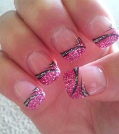 Here I have a collection of 15+ black & pink gel nail art designs & ideas of 2016. Take a look at it and enjoy the magnificence of the beauty that you carry along with it. Stay pretty because you worth all grace, happiness and compliments. Don't forget to write to us what more nail …