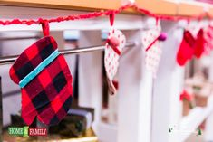 @Home and Family #DIY #MittenGarland from old sweaters and dishcloths by @Lilyshop with Jessie Jane with Jessie Jane #countdowntochristmas #HallmarkChannel