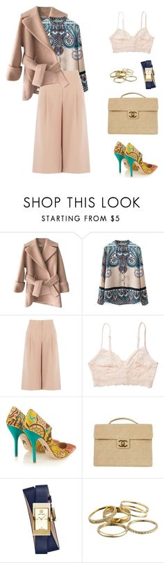 """Untitled #436"" by shoylove ❤ liked on Polyvore featuring Carven, BCBGMAXAZRIA, Monki, Paul Andrew, Chanel, Tory Burch and Kendra Scott"