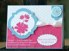 Gifts of Kindness & Mixed Bunch stamp sets were used to make this textured birthday card.