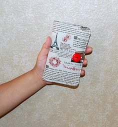 TRAVEL JOURNAL - iPhone / Cell Phone and Notepad Wallet Organizer