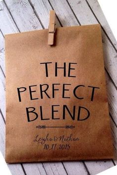 The Perfect Match Coffee Blend - Pretty Bridal Shower Favors  - Photos