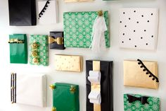 DIY projects from recycled christmas cards   DIY Holiday Present Photo Backdrop   Studio DIY®