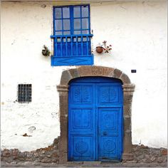 blue door and window... by Zé Eduardo..., via Flickr