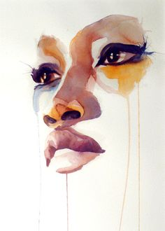 Painting by Marion Bolognesi. African American Art, African Art, Marion Bolognesi, Pintura Graffiti, Illustration Art, Illustrations, Watercolor Portraits, Watercolor Art Face, Painting Portraits