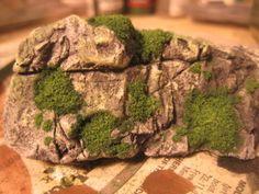 Adding moss to rocks