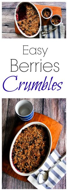Fruit Recipes, Sweets Recipes, Berry Crumble, Cinnamon Oatmeal, Little Brown, Yummy Food, Yummy Treats, The Dish, Brown Sugar