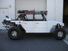 VW Thing white and ready to off road