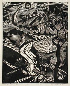 Albert Hanf   woodcut