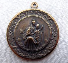 Bronze Our Lady of Mt. Carmel Medal by VirgoPotensSupplies on Etsy, $18.75