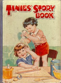 "What a brat! ~ Vintage ""Tinies' Story Book"" cover."