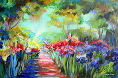 Large Landscape Original Oil  24 x 36 Painting by ElainesHeartsong, $675.00