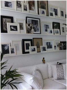 Photo Ledge Wall Shelf | Wall Decor: Decorating with Shelves and Ledges - At Home with Kristy ...