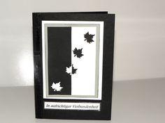 Trauerkarte,Beileidskarte, Kondolenzkarte von Luisa Ventocilla Shop auf DaWanda.com