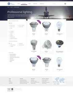 GE Lighting EMEA Website by rozmy , via Behance