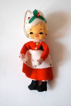 Vintage Mrs. Claus Christmas Ornament