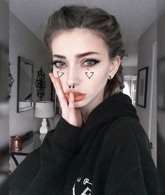 """[Lila] bi] I walk into prom and look around. I don't have a date so I look for people to hang out with."""" I feel someone tap my shoulder. I turn around, curiously Makeup Inspo, Makeup Art, Makeup Inspiration, Beauty Makeup, Hair Beauty, Maquillage Halloween, Halloween Makeup, Sarah Marie Karda, Jude Karda"""