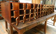 Pigeon hole lockers  (from Cambridge University engineering dept)    http://www.drewpritchard.co.uk/stockdetails.asp?AntiqueID=3957