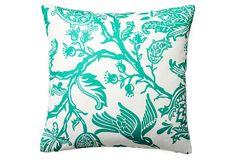 Avery 20x20 Outdoor Pillow, Teal on OneKingsLane.com