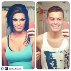 #Repost @joey_sizzle with @repostapp. ・・・ Sista SISTA! #twinzies #boytogirl #boy2girl #transformation #makeuptransformation #mua Transgender People, Transgender Girls, Mtf Transition, Why Do Men, Female Transformation, Wife And Girlfriend, Genre, Looking For Women, Gorgeous Women