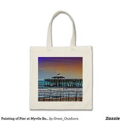 Lawyer funny customizable desk business card holder business card painting of pier at myrtle beach tote bag reheart Images