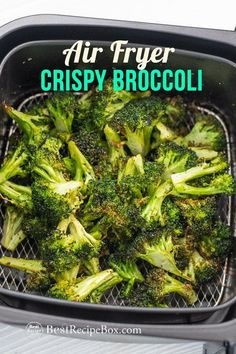 This is the best air fried garlic broccoli recipe in the air fryer! So good, quick & easy air fryer recipe using fresh broccoli. It's a healthy vegetable dish too if you're looking for a keto air fryer recipe or low carb air fried recipe. Air Fryer Recipes Breakfast, Air Fryer Oven Recipes, Air Fryer Dinner Recipes, Air Fryer Chicken Recipes, Air Fryer Recipes Gluten Free, Air Fryer Recipes Potatoes, Air Fryer Recipes Vegetables, Air Fryer Fried Chicken, Air Fryer Chicken Tenders