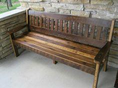 Rough sawn Oak barn wood bench