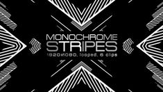 Monochrome Stripes Video Animation | 6 clips | Full HD 1920×1080 | Looped | Photo JPEG | Can use for VJ, club, music perfomance, party, concert, presentation | #black #disco #dynamic #edm #fast #loop #monochrome #moving #music #shape #stripes #techno #trap #vj #white